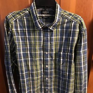 Men's Large Nautical Plaid Shirt